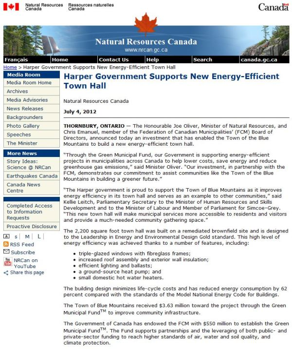 Harper Government of Canada Supports New Energy-Efficient ...