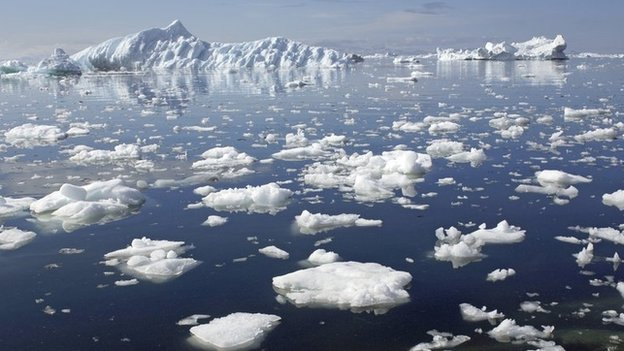 Measuring Arctic ice melt down due to human activities