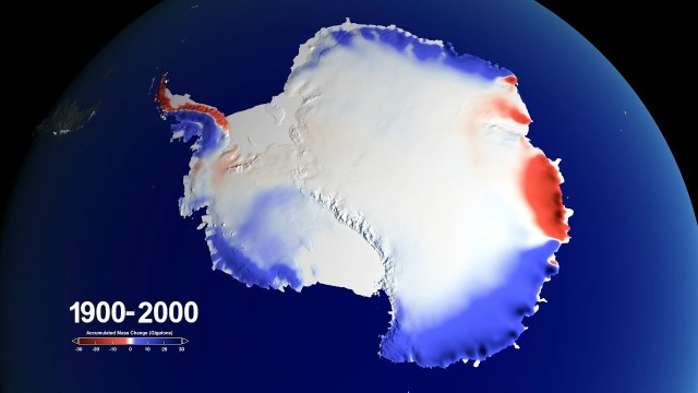 Snow over Antarctica Buffered Sea-Level Rise during Last Century