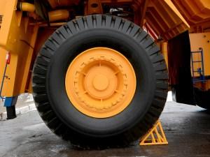 Yellow Machine Tyre