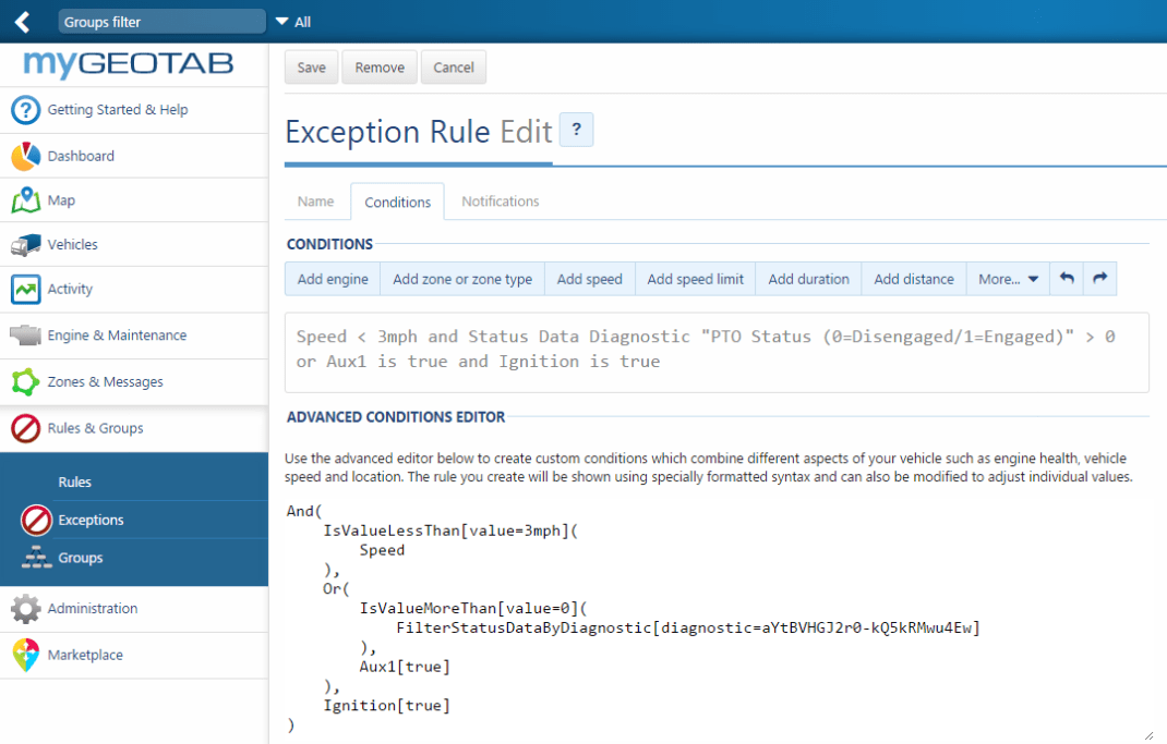 exception-rule-true-idling