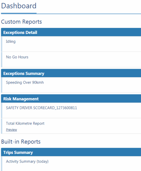 MyGeotab Custom Reports