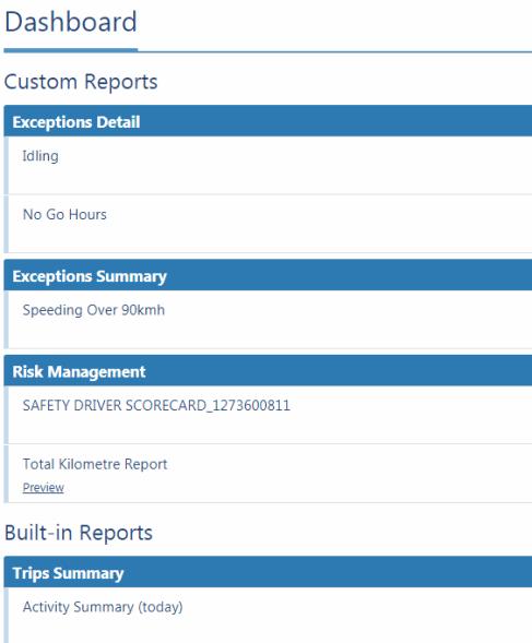 MyGeotab Custom Reports