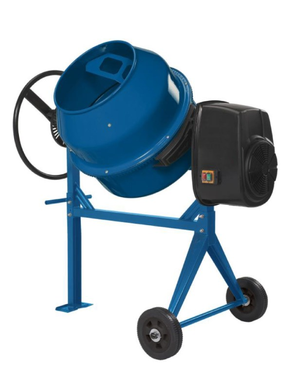 The mixer is used for efficient mixing of concrete, plaster and mortars.