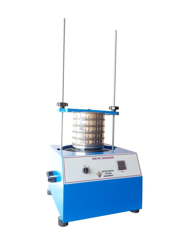 The Sieve Shaker is powered by an electromagnetic drive which has no rotating parts to wear making it maintenance free and extremely quiet in operation.