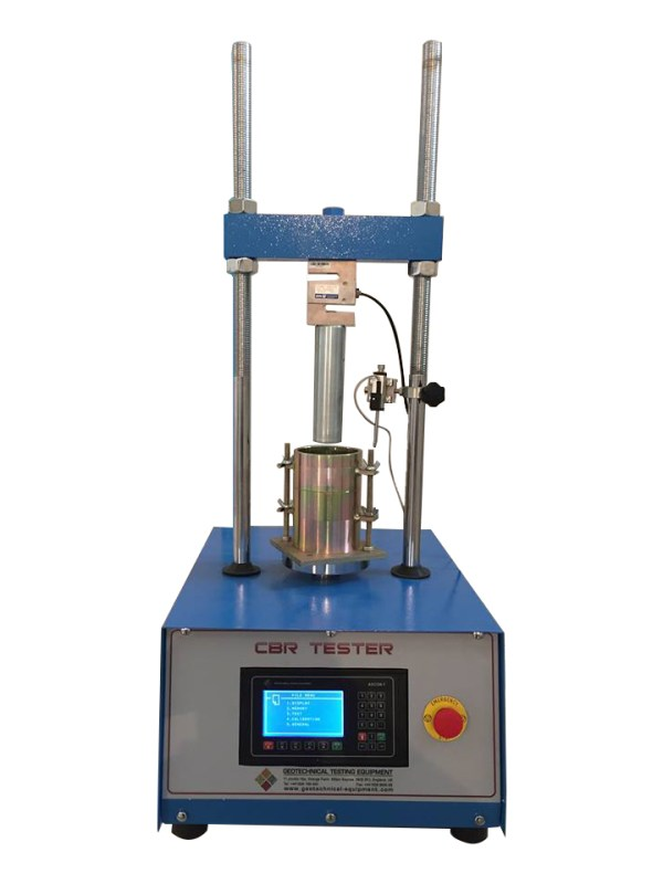 The Digital Computerized CBR Test Machine is designed for performing laboratory evaluation of the CBR value of highway sub-bases and sub-grade