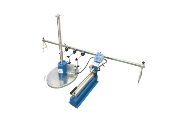 The Plate Bearing Test is used to determine the bearing capacity of a soil under field loading conditions for a specific loading plate.