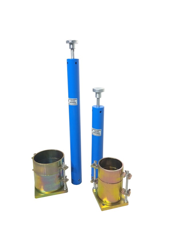 Moulds and rammers are used to determine the moisture content and density of compacted soil.