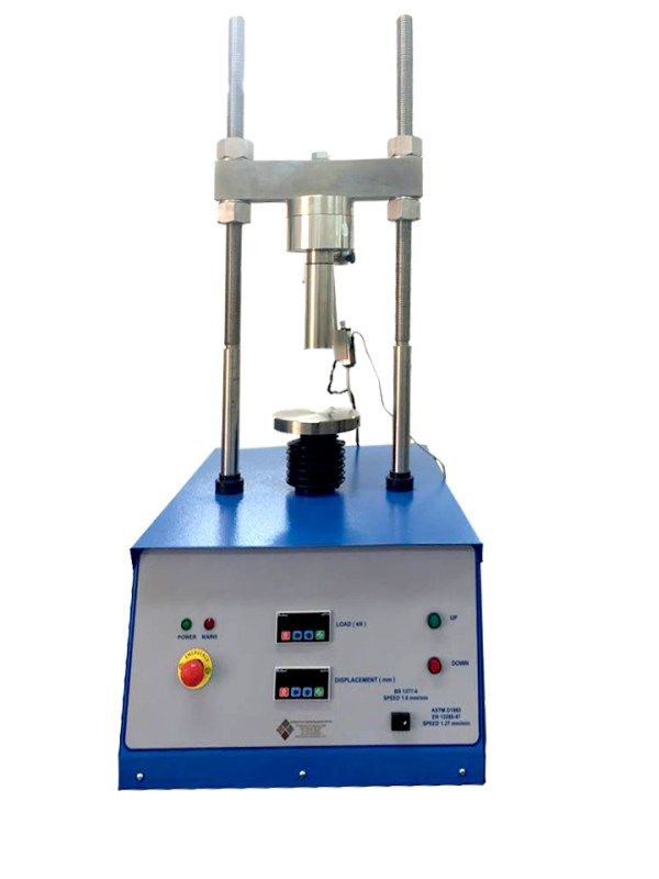The CBR Test Machine with Digital Readout Unit is designed for performing laboratory evaluation of the CBR value of highway sub bases