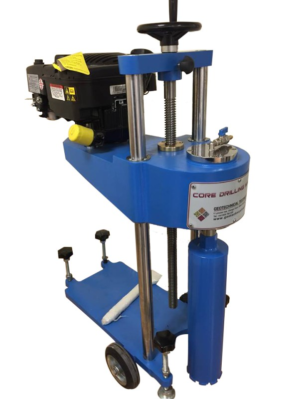 The Heavy Duty Core Drill Machine is designed to minimize time required for cutting cores up to 150 mm diameter from concrete, asphalt and similar hard construction material.