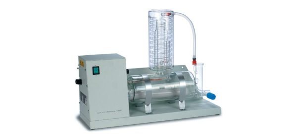 The Water Distillation unit gives high quality distilled water having an output of 4 liter/hr with a power input of 3 KW.