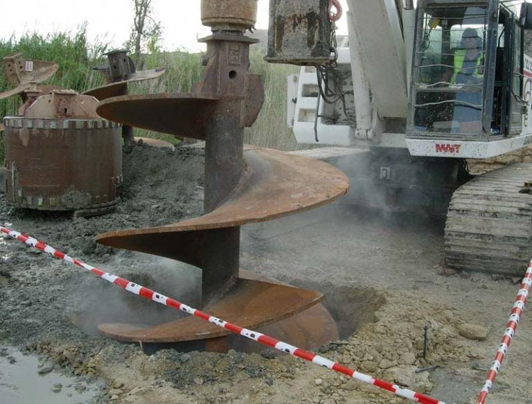 Tipos y ejecución pilotes excavados y hormigonados in situ
