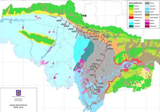 Mapa geotécnico Bogotá