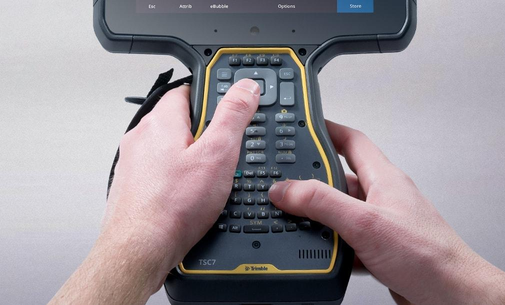 Trimble TSC7 Maastotietokone, ergonomia