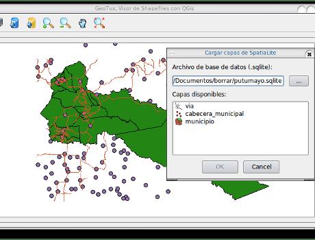 Visor de capas SpatiaLite usando PyQGIS.