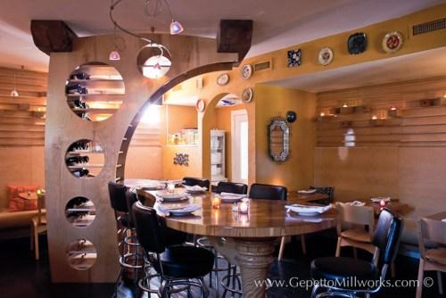 Wooden restaurant fitting fabrication