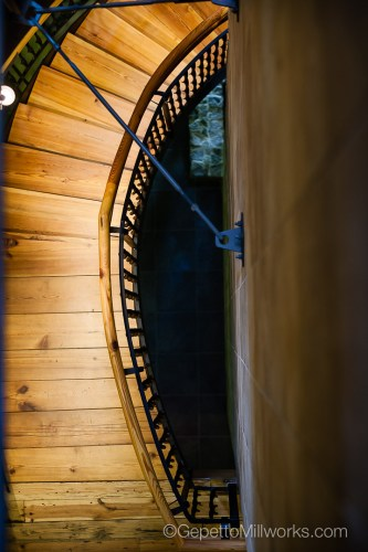 East Coast Warehouse Renovation   Solid Wood Spiral Staircase