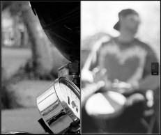 X20 on left, Tri-X on right