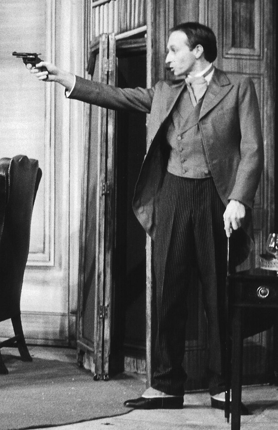 Image Gerald Home As Professor Moriarty In A Play About