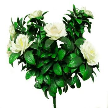 artificial white azaleas