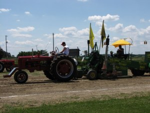 Antique Tractor and Pulling Sled