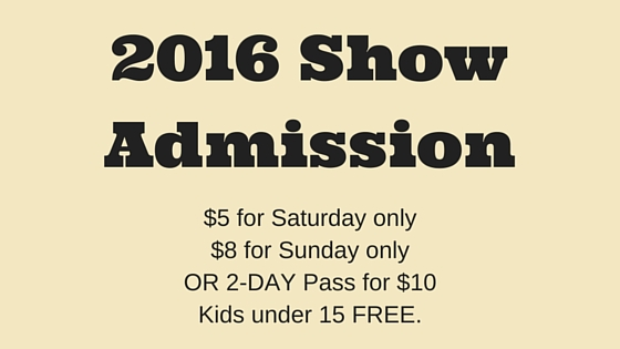 2016 Show Admission Pricing