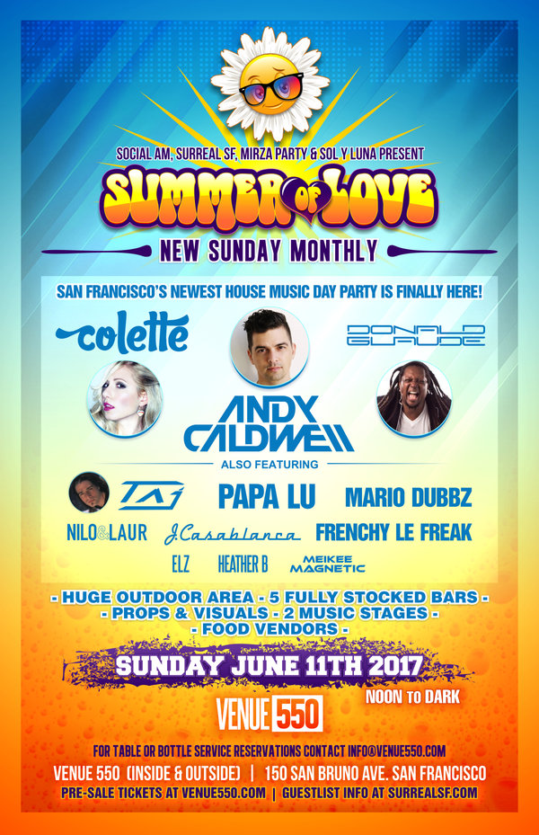Summer of Love Day Party poster/flyer