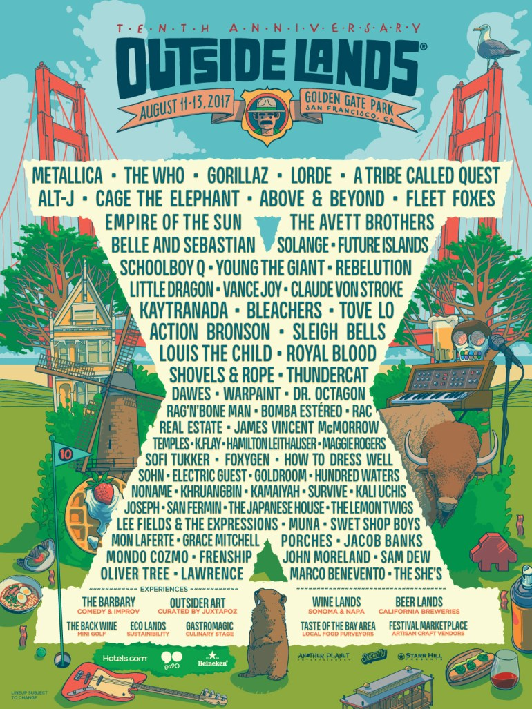 SF Outside Lands 2017 poster