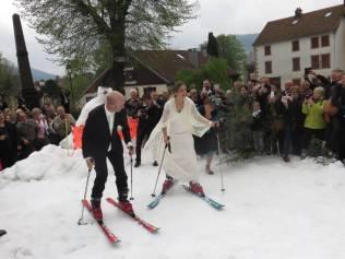 Jean-Michel & Déborah mariage neige (1)