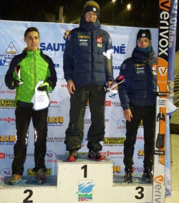 Podium saut spécial Hommes: 1er Mathis Contamine, 2ème Thomas Spenner, 3ème Lilian Vaxelaire