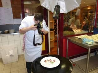 séance photos afin d'immortaliser les plats