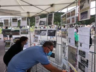 Petite expo du centenaire à l'entrée du stade Henri Millan