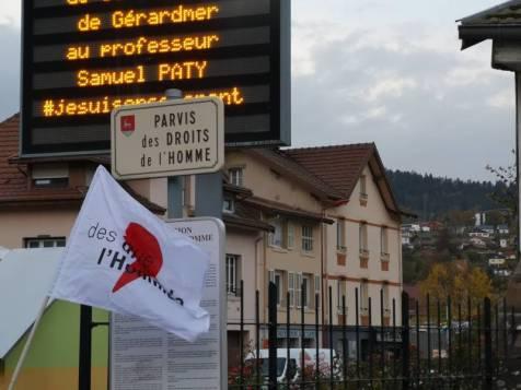 hommage samuel Paty Gérardmer LDH (1)