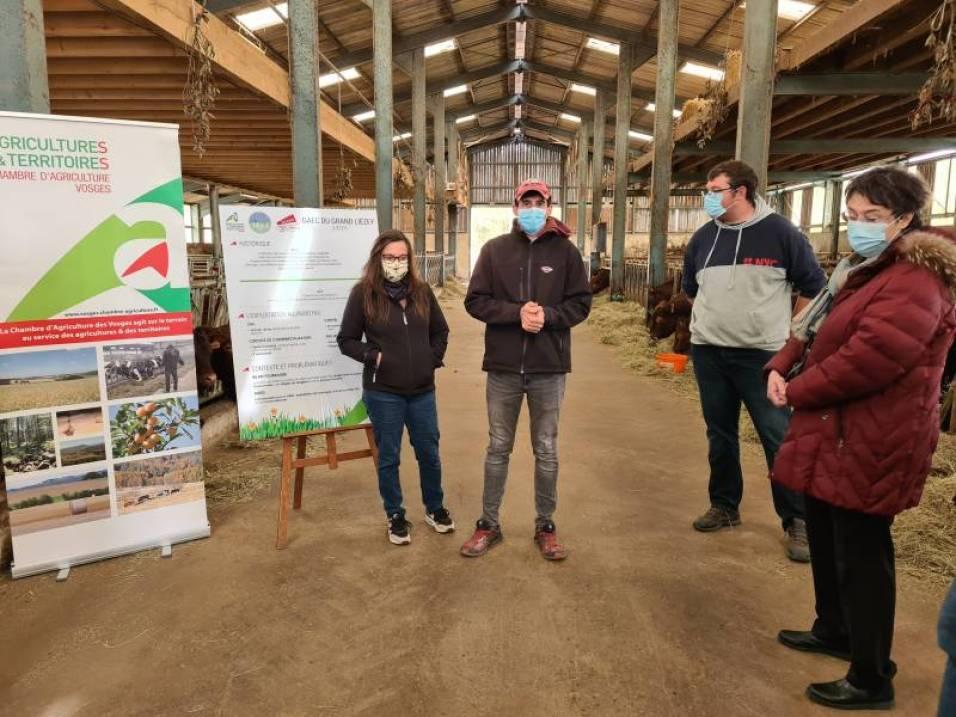Visite prefet GAEC Liezy ferme (1)
