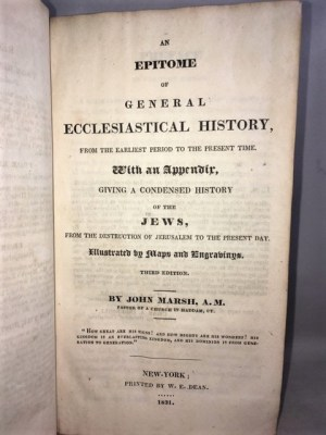 An Epitome of General Ecclesiastical History From the Earliest Period of Antiquity to the Present Time. With an Appendix, Giving a Condensed History of the Jews, From the Destruction of Jerusalem to the Present Day. Illustrated by Maps and Engravings.