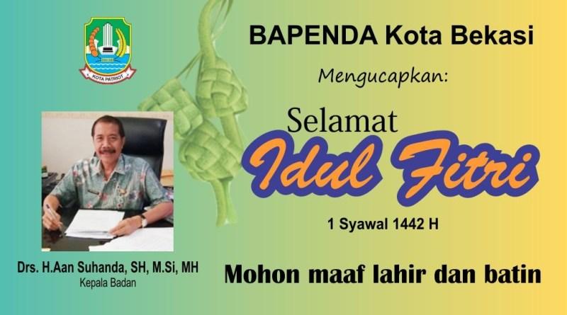 BAPENDA Kota Bekasi Mengucapkan Selamat Idul Fitri