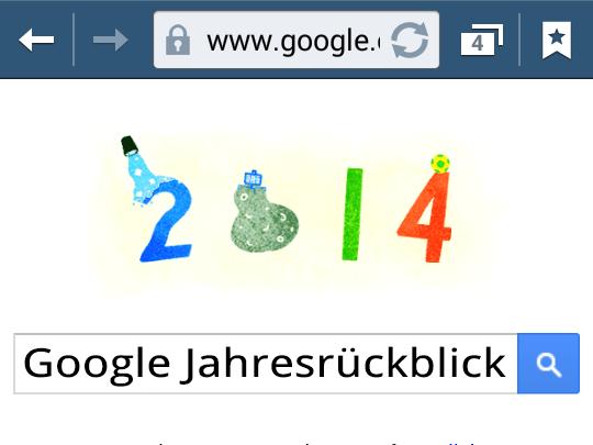 Google Jahresrückblick (Doodle)