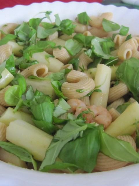 asperge-scampi pasta
