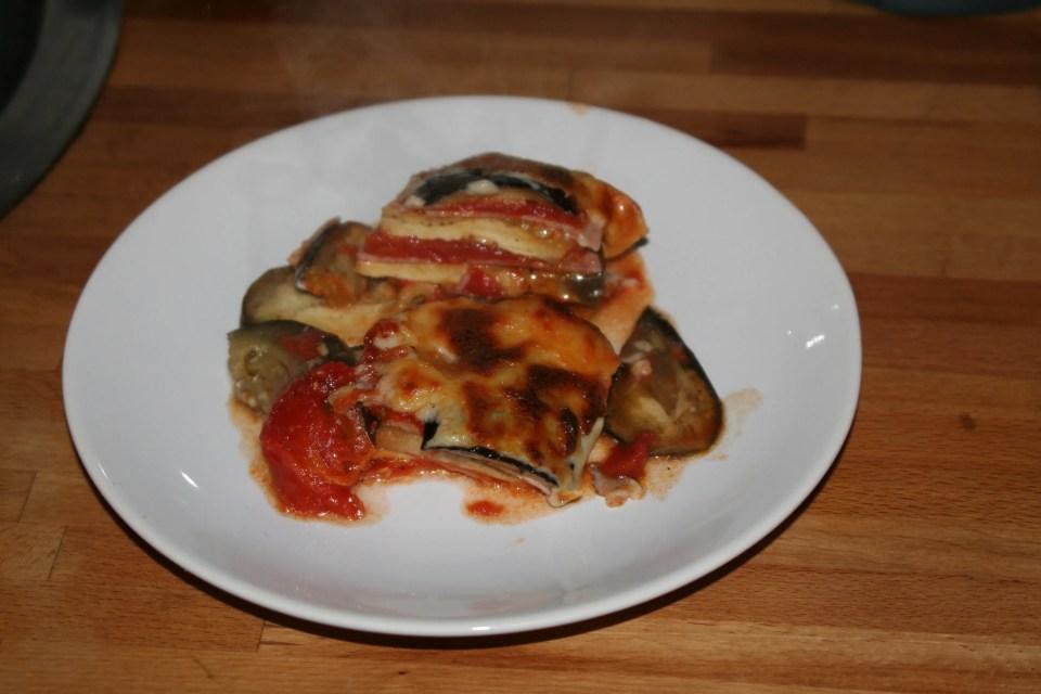 Lasagna van aubergines