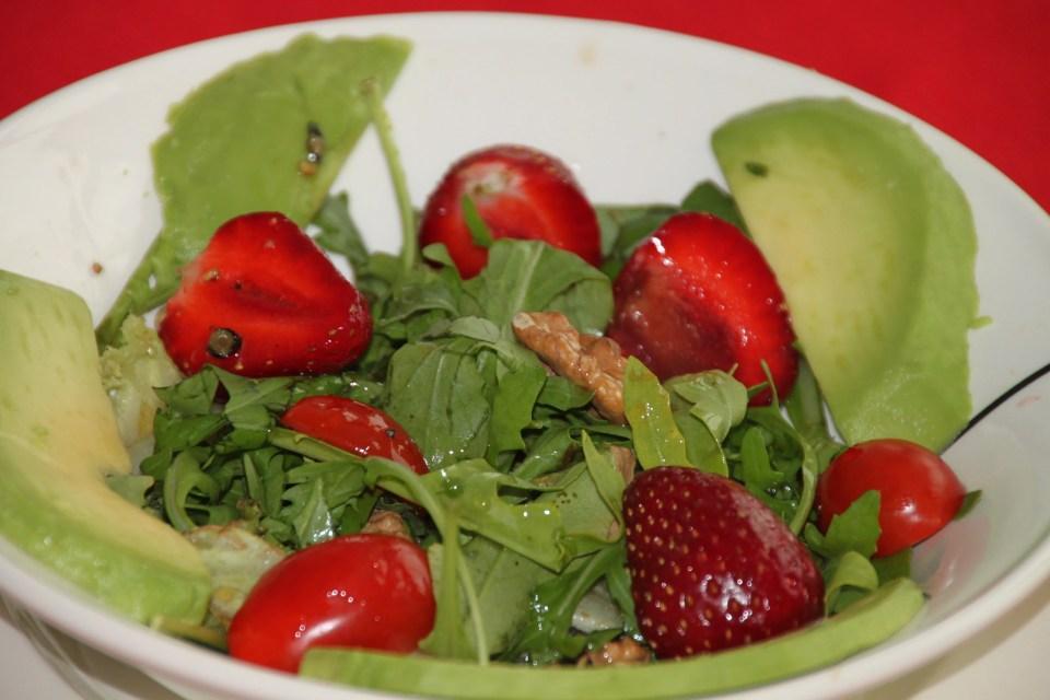 aardbei rucola zomersalade