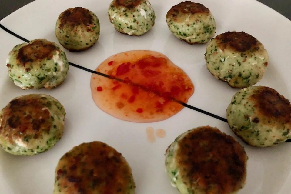 visballetjes met koriander