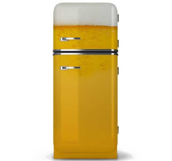 Koelkast sticker bier met bubbels