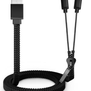 MicroUSB en Apple Lightning USB kabel - Rits design