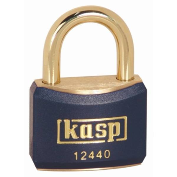 Kasp K12440BLUD Hangslot 40 mm Verschillend sluitend Goud-geel Sleutelslot