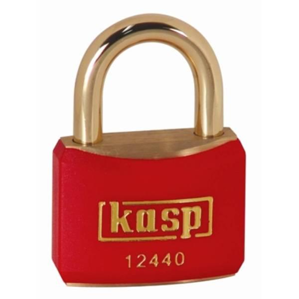 Kasp K12440REDD Hangslot 40 mm Verschillend sluitend Goud-geel Sleutelslot