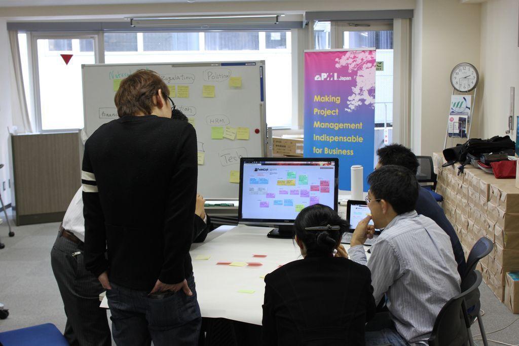 Sesión de Brainstorming durante una gerencia de riesgos