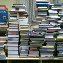 Új könyvek halmai