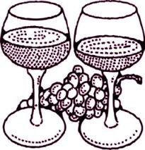 borospohár rajz