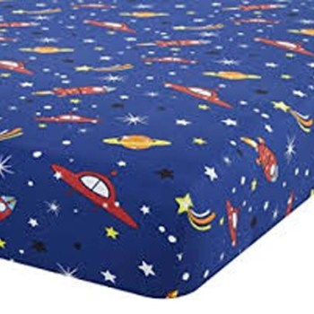 Catherine Lansfield Outer Space 2 Single Fitted Sheet