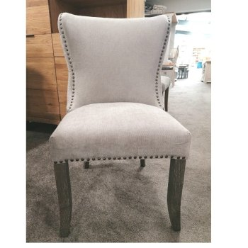 Normandy fabric gret dining chair